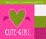 Fancy vector girlish set Royalty Free Stock Photos