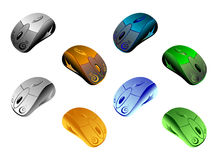 Fancy Vector Mice Royalty Free Stock Image
