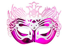 Fancy Vintage Festive. Purple / Pink Feathers mask isolated royalty free illustration