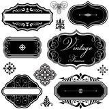 Fancy Vintage Frames and Ornaments Stock Image