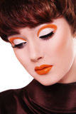 Fancy vintage make-up Royalty Free Stock Image