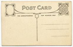 Fancy Vintage Postcard Stock Photography