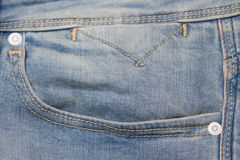 Fancy washed blue jeans pocket Royalty Free Stock Images