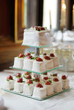 Fancy wedding cake. Delicious fancy wedding cake made of cupcakes Stock Images