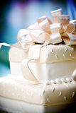 Fancy wedding cake with cool details Royalty Free Stock Image