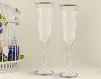 Fancy wedding goblets Royalty Free Stock Images