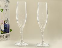 Fancy wedding goblets Stock Photography
