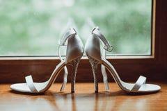 Fancy wedding shoes Stock Photos