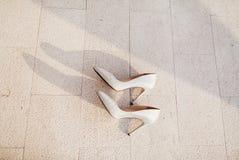 Fancy wedding shoes Stock Photo