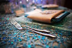 Fancy Wedding Tabletop Royalty Free Stock Photography