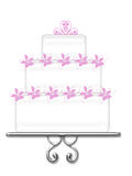 Fancy White Cake Royalty Free Stock Images