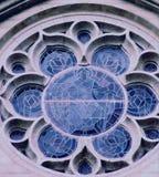 Fancy Window. Stained Glass window,Grace Catherdal Church,San Francisco,California Stock Photo