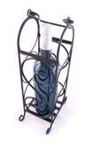 Fancy wine bottle case. A fancy ornate wine bottle case isolated on white royalty free stock photo