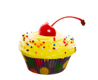 Fancy Yellow Cupcake Royalty Free Stock Photo