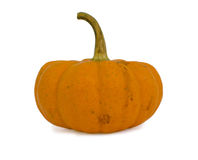 Fancy yellow pumpkin isolated on white background Stock Photos