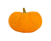 Fancy yellow pumpkin isolated on white background Royalty Free Stock Images