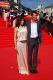 Fandera e Yankovskiy no festival de cinema de Moscou Imagem de Stock