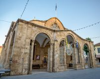 Faneromeni教会前面在尼科西亚市中心 库存照片