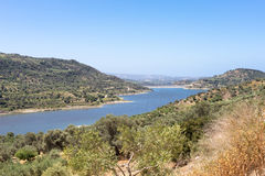 The Faneromenis reservoir in the south-central of Crete Stock Photography