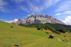Fanes område från den Pralongia platån, Dolomites royaltyfria foton