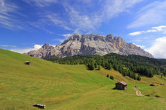 Fanes range from Pralongia plateau, Dolomites royalty free stock photos