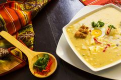 fanesca - plato tradicional del ecuadorian de pascua imagen de archivo