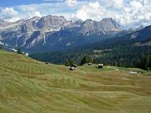 Faneswaaier van Pralongia-plateau, Dolomiet Stock Afbeelding