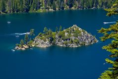 Fanette Island in Lake Tahoe Royalty Free Stock Photography