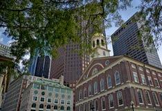 Faneuil Corridoio, Boston fotografia stock libera da diritti