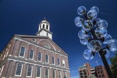 Faneuil Corridoio a Boston Immagine Stock Libera da Diritti