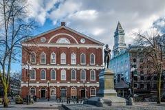 Faneuil Corridoio - Boston, Massachusetts, U.S.A. fotografie stock libere da diritti