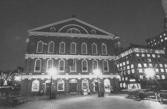 Faneuil Hall на времени рождества Стоковое Фото