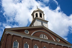 Faneuil hall bell tower. Faneuil hall the building in boston where patriots used to meet in the early days of america to plan freedom Royalty Free Stock Photos