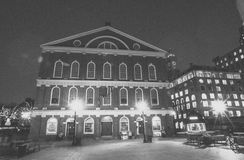 Faneuil Hall at Christmas Time. Stock Photo