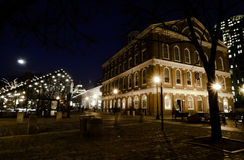 Faneuil Hall at Christmas Time. Royalty Free Stock Photo