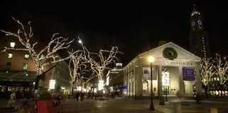 Faneuil Hall at Christmas Time. Stock Photography