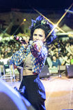 fanfara地拉纳生活音乐会  免版税图库摄影