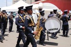 fanfara al funerale di ex presidente etiopico Dr Negasso Gidada immagini stock