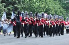 Fanfara della High School di Richfield nella parata Immagine Stock