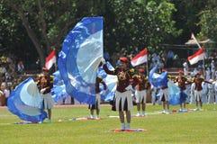 Fanfara della polizia dell'Indonesia Fotografia Stock