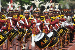 Fanfara della polizia dell'Indonesia Immagine Stock