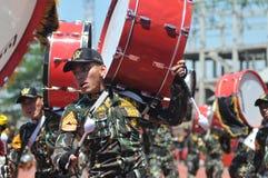 Fanfara della polizia dell'Indonesia Fotografie Stock