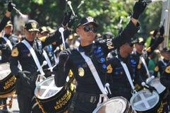 Fanfara della polizia dell'Indonesia Immagini Stock Libere da Diritti