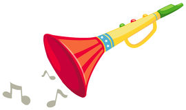 Fanfare. Illustration of isolated a colorful fanfare on white background Royalty Free Stock Images