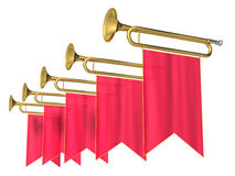 Fanfare. On a white background Stock Photography