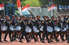 Fanfare de police de l'Indonésie Photo libre de droits