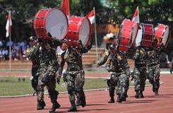 Fanfare de police de l'Indonésie Photo stock