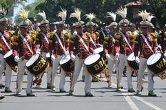 Fanfare de police de l'Indonésie Image libre de droits