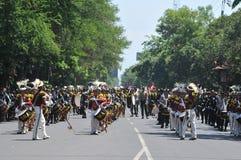 Fanfare de police de l'Indonésie Photos libres de droits