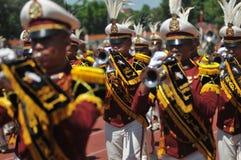 Fanfare de police de l'Indonésie Photos stock